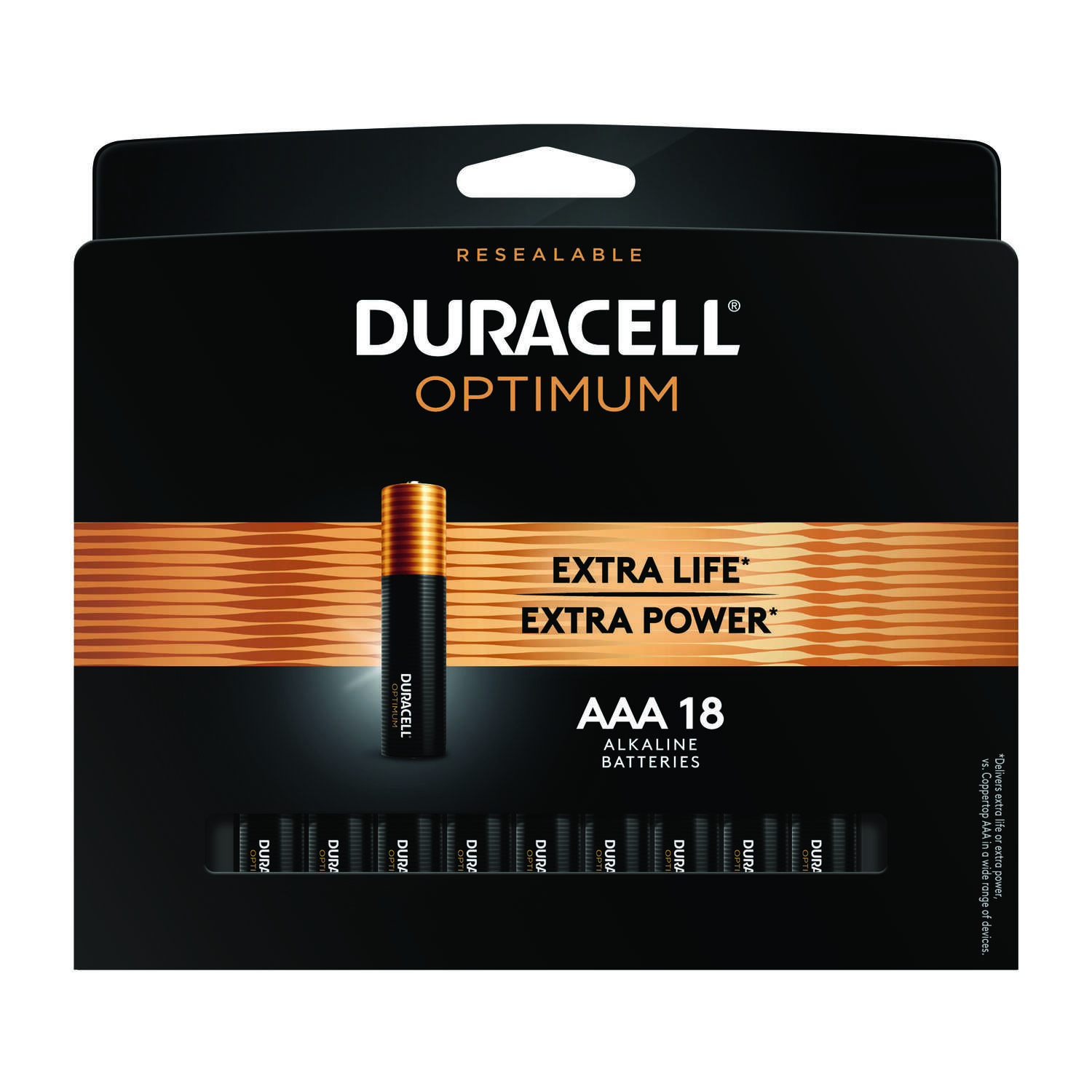 Duracell  Optimum  AAA  Alkaline  Batteries  18 pk Carded