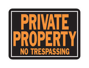 Hy-Ko  English  Private Property No Trespassing  Sign  Aluminum  10 in. H x 14 in. W