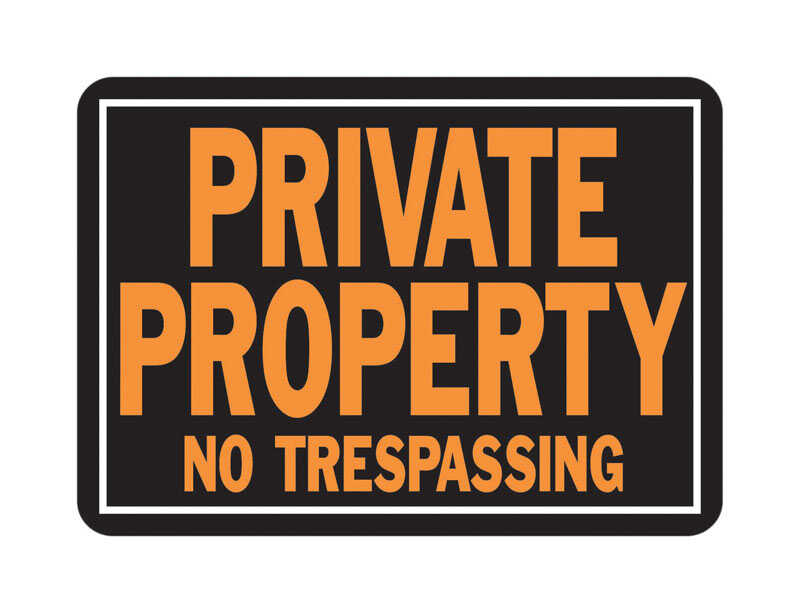 Hy-Ko  English  Private Property No Trespassing  Sign  Aluminum  9.25 in. H x 14 in. W