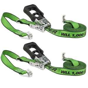 Keeper  16 ft. L Green  Tie Down w/Ratchet  1000 lb. 1 pk