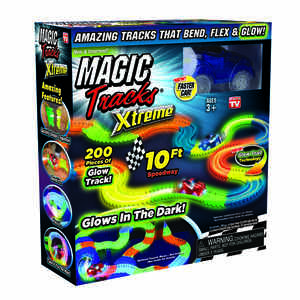 Magic Tracks  As Seen On TV  Toy Car Track  Plastic  Multi-Colored  200 pc.