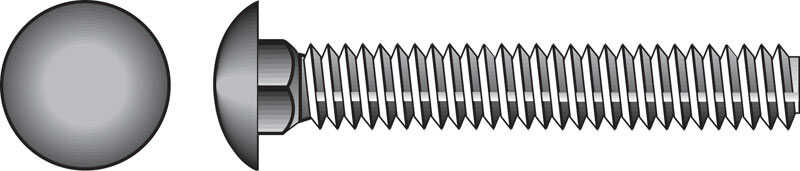 Hillman  5/16 in. Dia. x 3-1/2 in. L Zinc-Plated  Steel  Carriage Bolt  50 pk
