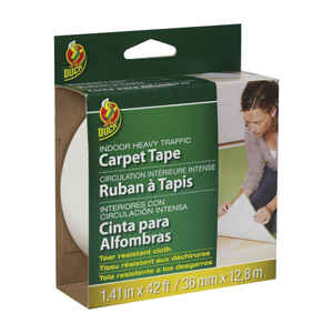 Duck  1.41 in. W x 42 ft. L Polyester  Indoor  Carpet Tape