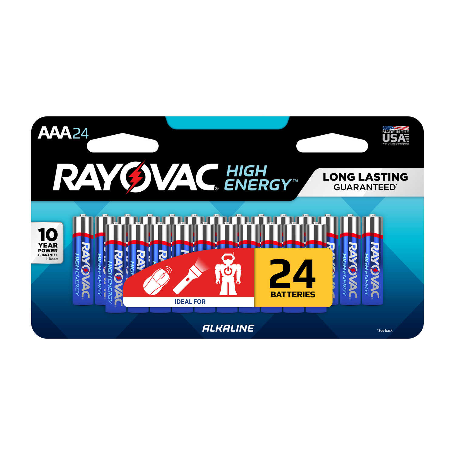 Rayovac  AAA  Alkaline  Batteries  1.5 volts 24 pk Carded