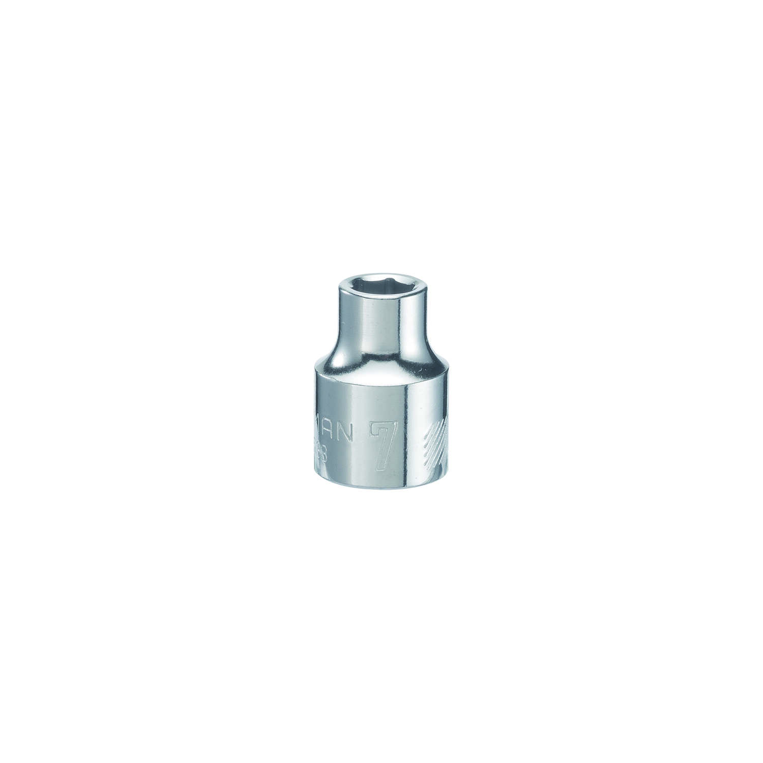 Craftsman  7 mm  x 3/8 in. drive  Metric  6 Point Shallow  Shallow Socket  1 pc.