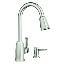 Moen Wellsley One Handle Stainless Steel Pulldown Kitchen Faucet