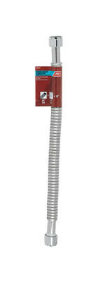 Ace  3/4 in. FIP   x 3/4 in. Dia. FIP  18 in. Corrugated Stainless Steel  Water Heater Supply Line