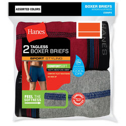 Hanes  Comfort Flex  Large  Men's  Assorted  Boxer Briefs