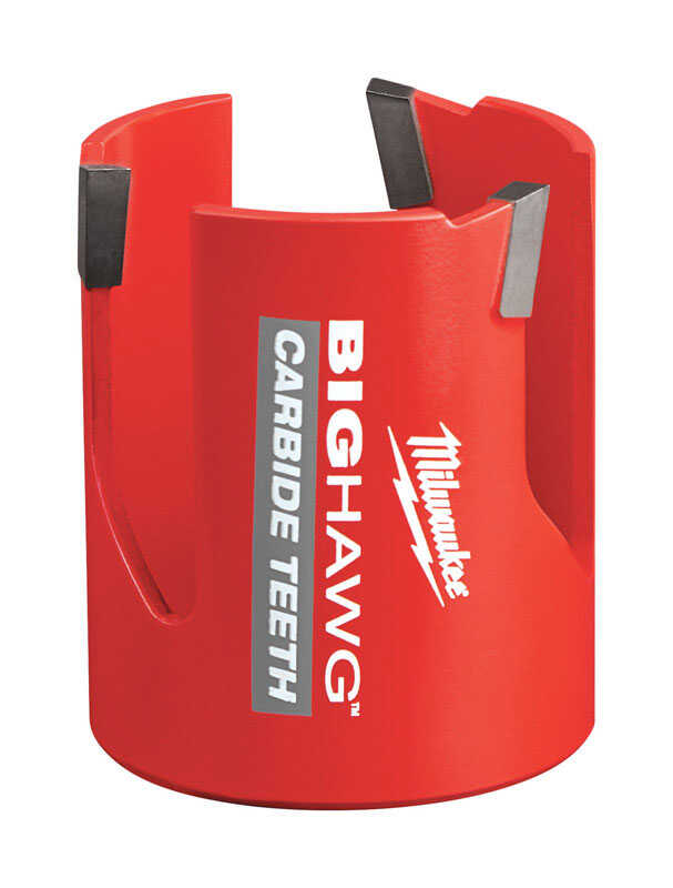 Milwaukee  BIG HAWG  2-1/4 in. Dia. x 2-7/16 in. L Carbide Tipped  Hole Saw  1/4 in. 1 pc.
