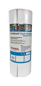 York  12 in. W x 600 in. L Vinyl  Flashing  White