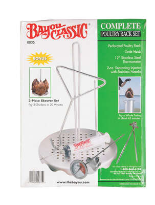 Bayou Classic Poultry Frying Rack 9.75 in. L x 9.5 in. W