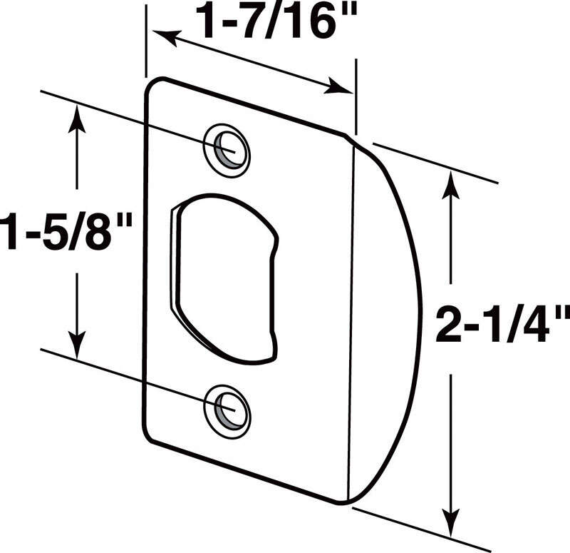 Prime-Line Deadlatch Door Strike 1-5/8 in. 5.4 in. x 3.8 in. x 0.4 in. Antique Brass Steel Use to Re
