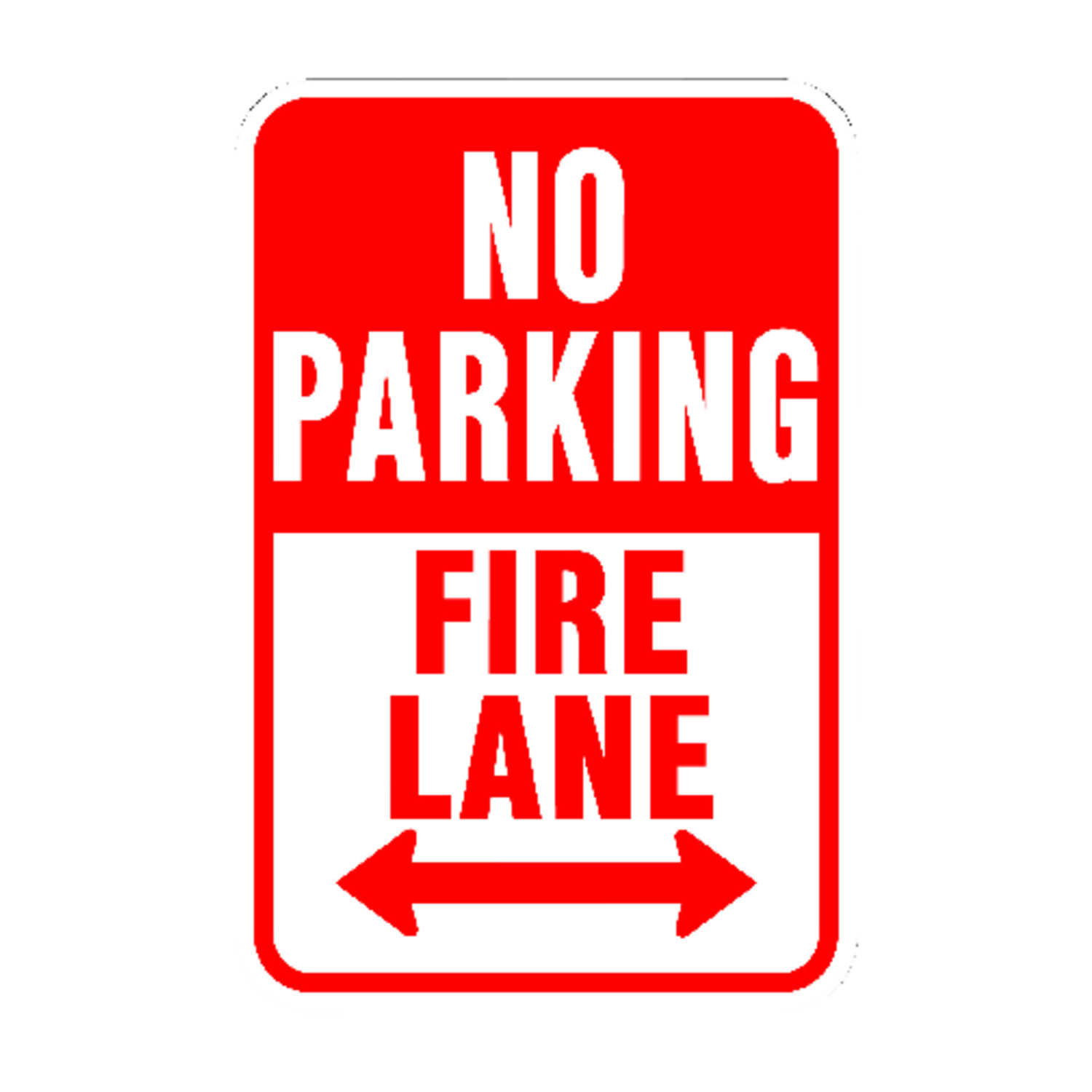Hy-Ko  English  No Parking Fire Lane  Sign  Aluminum  18 in. H x 12 in. W