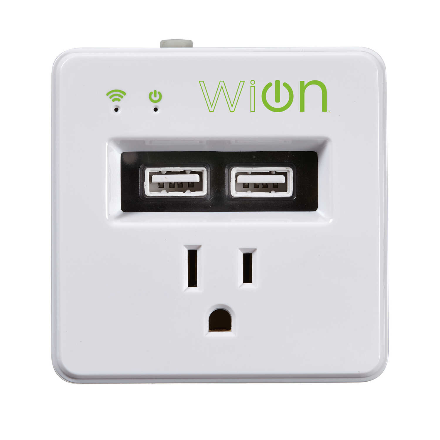 Woods  WiOn  15 amps 125 volts White  Electrical WiFi Outlet  1-15P  1 count