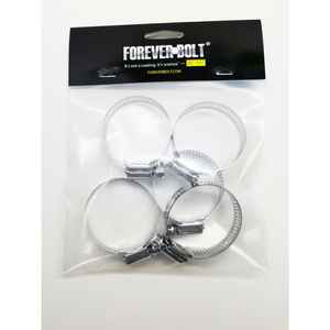 FOREVERBOLT  1-1/16 in. to 2 in. SAE 24  Silver  Hose Clamp  Stainless Steel  Band