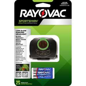 Rayovac  Sportsman Essentials  22 lumens Black  LED  Headlight  AAA