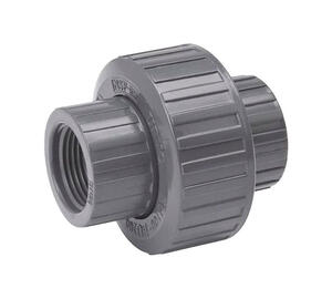 BK Products  ProLine  Schedule 80  1/2 in. FPT   x 1/2 in. Dia. Threaded  PVC  Union