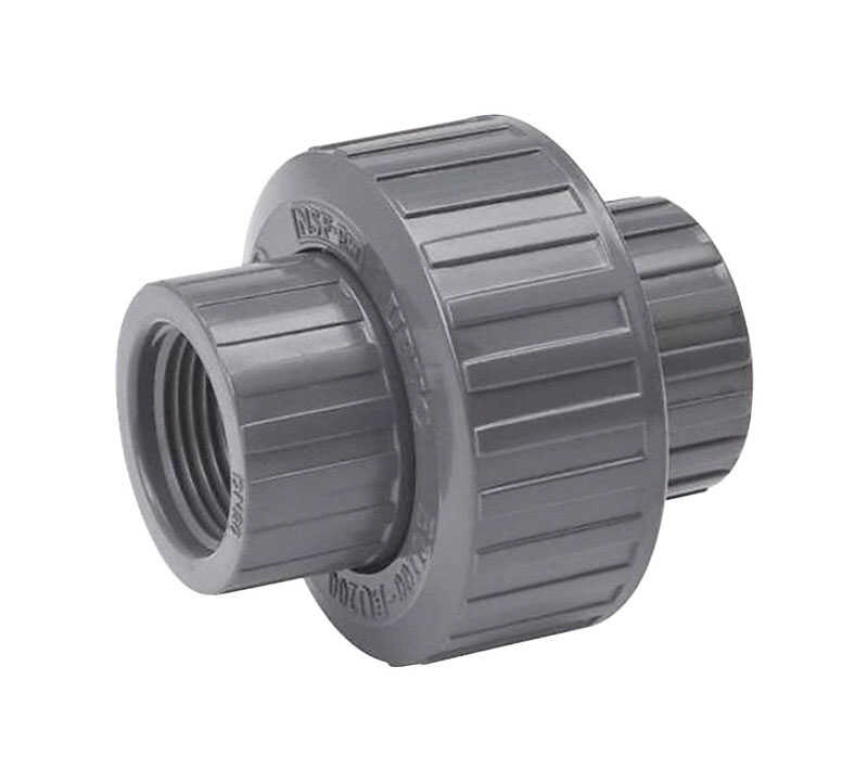 B & K  ProLine  Schedule 80  1/2 in. FPT   x 1/2 in. Dia. Threaded  PVC  Union