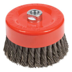Forney 6 in. Dia. x 5/8 in. Knotted Steel Cup Brush 6500 rpm 1 pc.