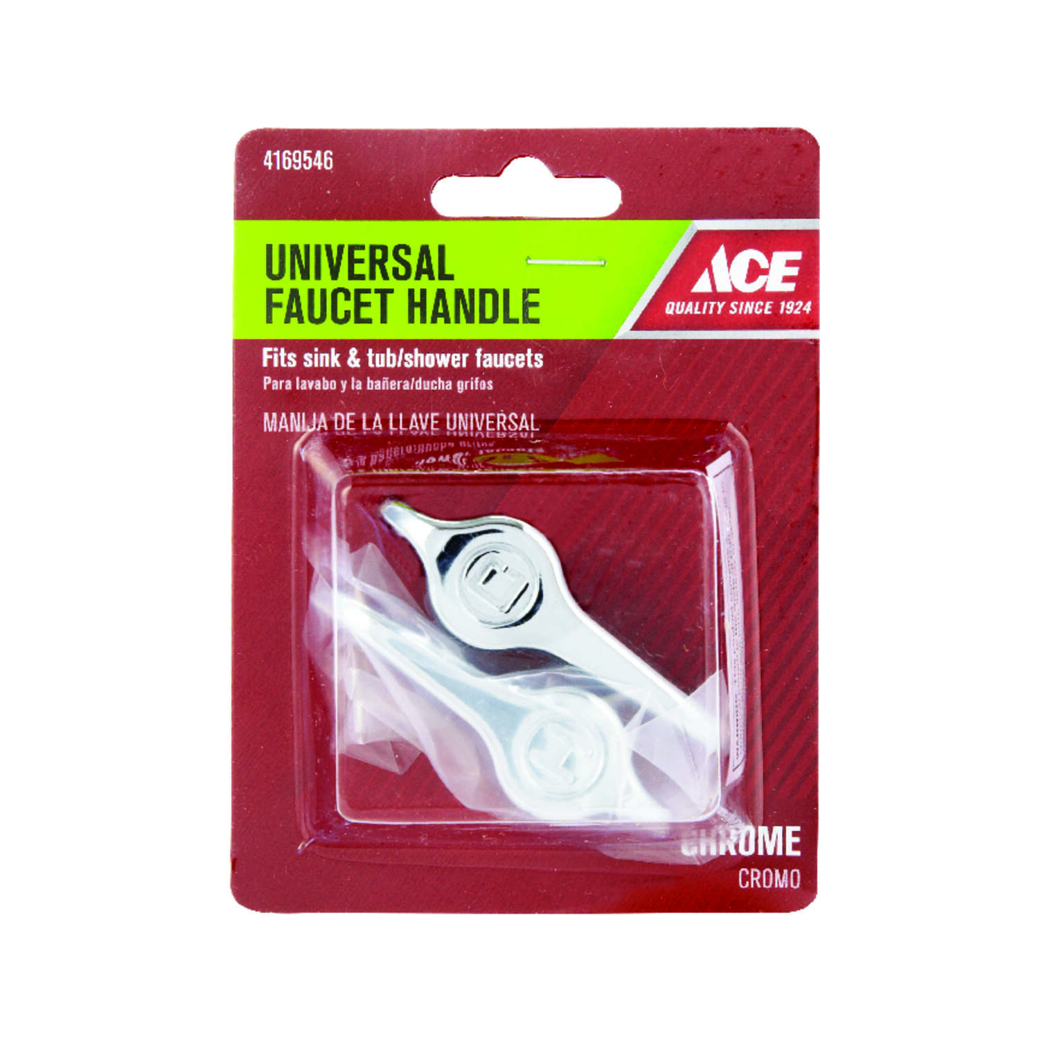 Ace For Universal Chrome Sink and Tub and Shower Faucet Handles