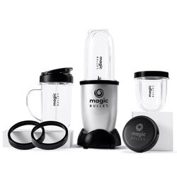 Magic Bullet Black/Silver Stainless Steel Blender and Food Processor 18 oz. 1 speed