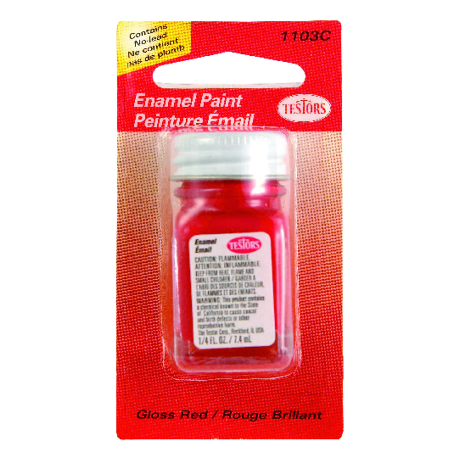 Testors  Red  Hobby Paint  1/4 oz.