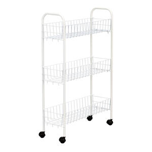 Household Essentials  Slimline  30 in. H x 19.5 in. W x 7 in. D Metal  3 Shelf Laundry Rack
