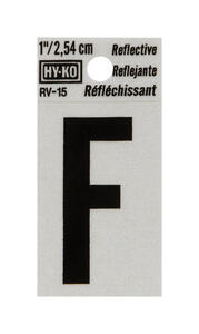 Hy-Ko  1 in. Reflective Black  Vinyl  Letter  F  Self-Adhesive  1 pc.