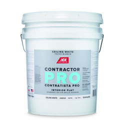 Ace  Contractor Pro  Flat  White  Acrylic Latex  Ceiling Paint  Indoor  5 gal.