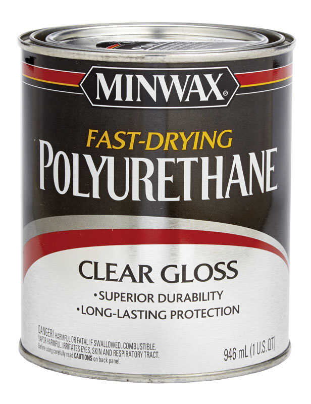 Minwax Gloss Clear Fast Drying Polyurethane 1 Qt Ace Hardware