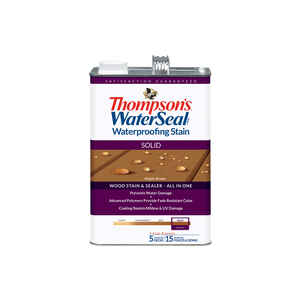 Thompson's WaterSeal  Solid  Maple Brown  Waterproofing Wood Stain and Sealer  1 gal.