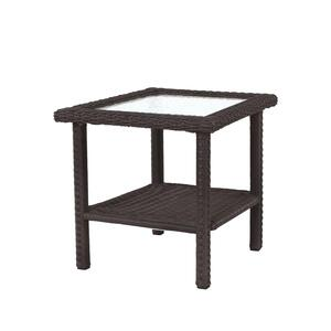 Living Accents  Square  Brown  Glass  Prescott  Side Table
