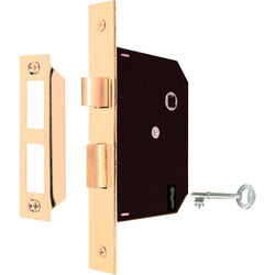 Prime-Line Security Bright Brass Mortise Replacement Lock Assembly Grade 1 1-3/4 in.