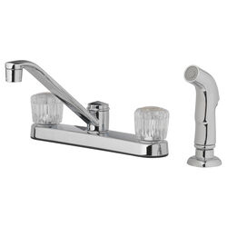 OakBrook  Essentials  Two Handle  Chrome  Kitchen Faucet  Side Sprayer Included