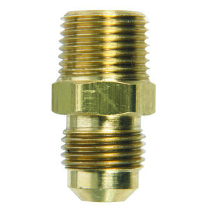 JMF  3/8 in. Flare   x 3/8 in. Dia. Male  Brass  Adapter