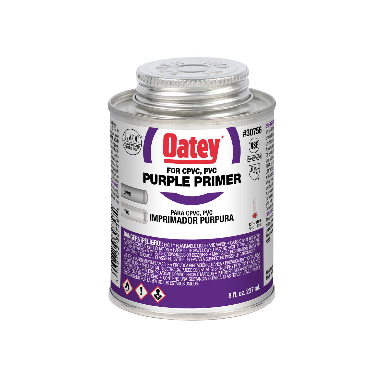 Oatey  Purple  Primer and Cement  8 oz. For CPVC/PVC