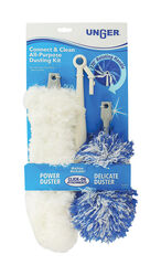 Unger Connect & Clean Microfiber Duster Kit 15 in. L 2 pk