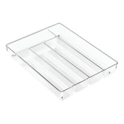 InterDesign  Linus  2 in. H x 13.7 in. W x 10.7 in. L Clear  Plastic  Cutlery Tray