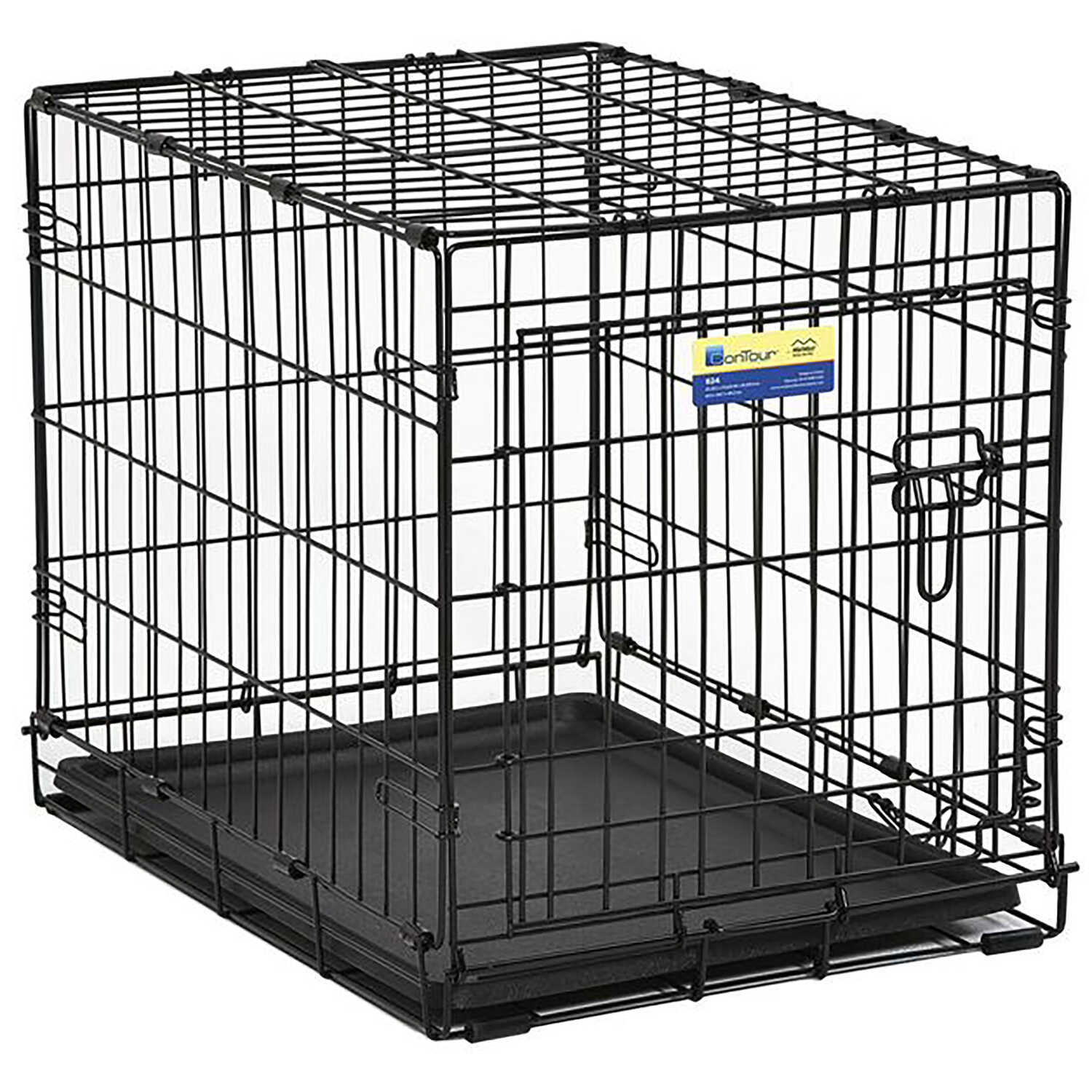 Contour  Medium  Steel  Dog Crate  19.5 in. H x 18 in. W x 24 in. D