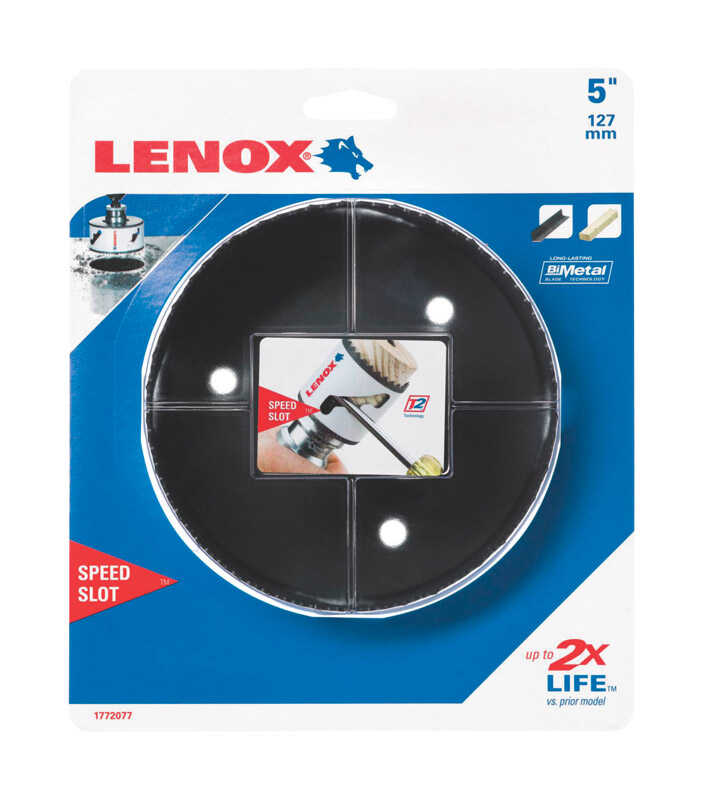 Lenox  Speed Slot  5 in. Dia. x 1.5 in. L Bi-Metal  Hole Saw  1/2 in. 1 pc.