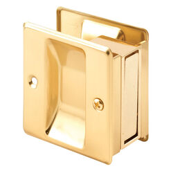 Prime-Line  2.5 in. L Polished  Gold  Brass  Combination Pull