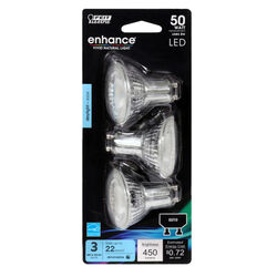 Feit Electric  Enhance  MR16  GU10  LED Bulb  Daylight  50 Watt Equivalence 3 pk