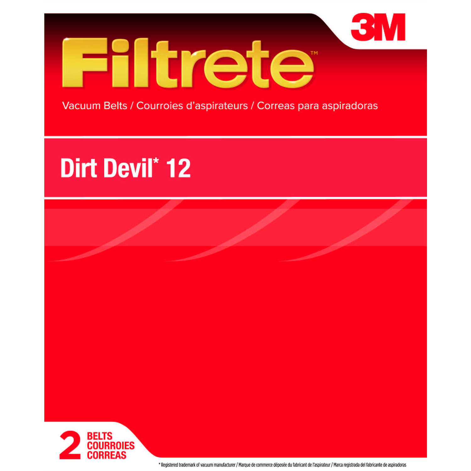 3M  Filtrete  Vacuum Belt  For Dirt Devil Style 12 2 pk