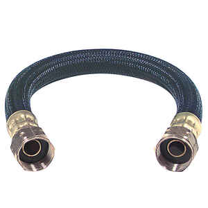 Brasscraft  3/4 in. FIP   x 3/4 in. Dia. FIP  Polymer  Water Heater  Supply Line  18 in.