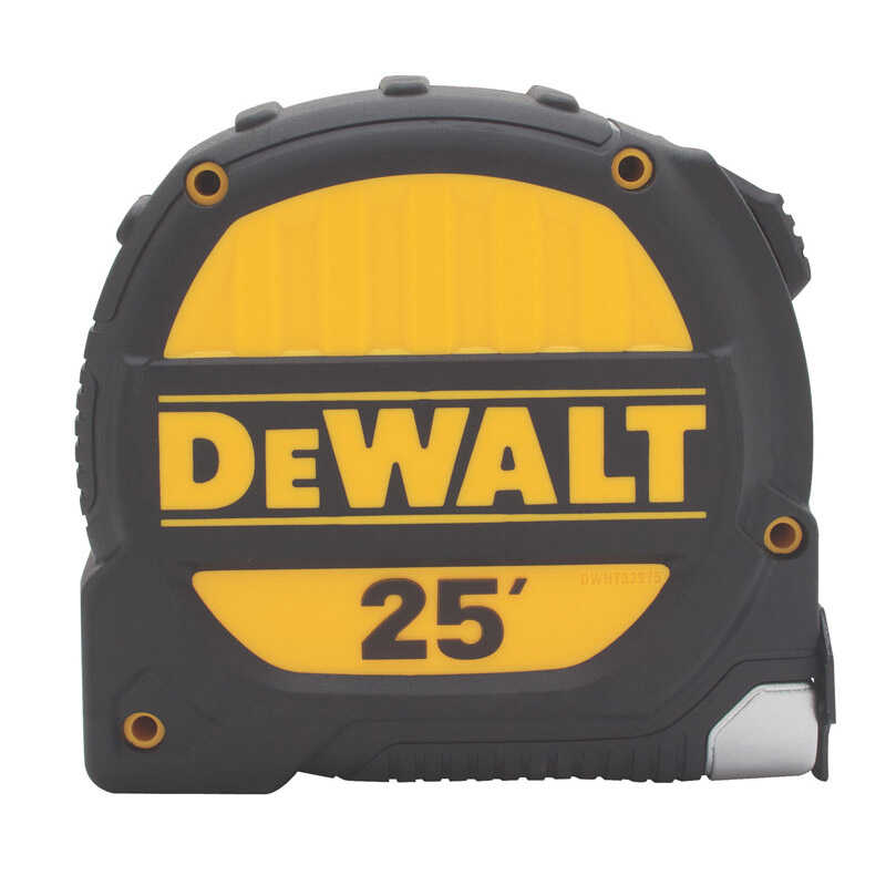 DeWalt  25 ft. L x 1.25 in. W Tape Measure  Black  1 pk