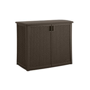 Suncast  Plastic  35-1/4 in. H x 42-1/4 in. W x 23 in. D Brown  Outdoor Storage Cabinet