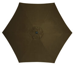 Living Accents  9  Tiltable Brown  Market  Umbrella