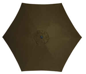 Living Accents  MARKET  9 ft. Tiltable Brown  Patio Umbrella