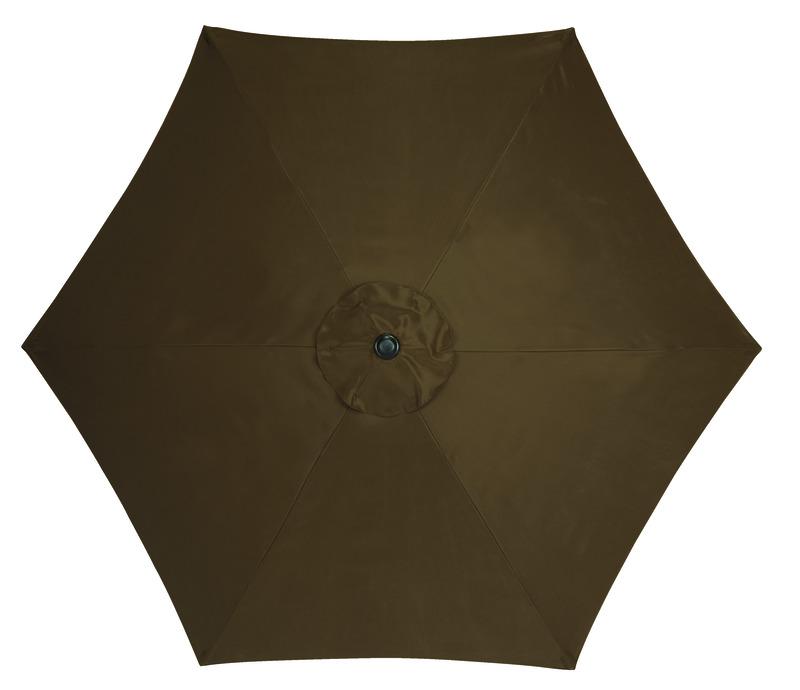 Living Accents MARKET 9 Ft. Tiltable Brown Patio Umbrella