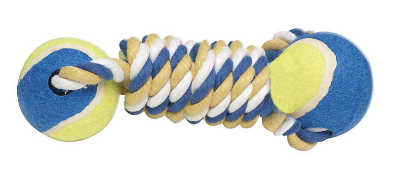Diggers Multicolored Assorted Styles Rubber Tennis Ball Tug Toys Large